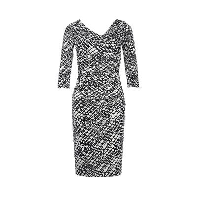 patterned wrap dress multi
